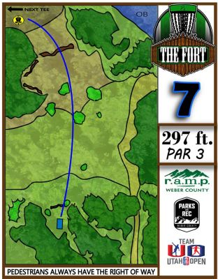 Fort Buenaventura, The Fort, Hole 7 Hole sign