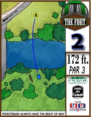 Fort Buenaventura, The Fort, Hole 2 Hole sign