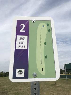 Woodhaven Civic DGC, Main course, Hole 2 Hole sign