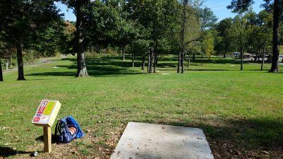 Faircrest Park, WC Griffith DGC, Hole 5 Long tee pad