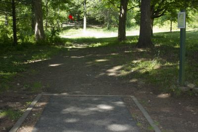 FDR State Park, Main course, Hole 2 Tee pad