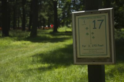 FDR State Park, Main course, Hole 17 Tee pad