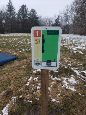 Markle City Park, Navigator, Hole 1 Hole sign