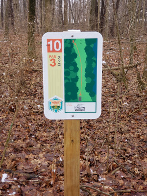 Markle City Park, Navigator, Hole 10 Hole sign