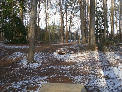 Wills Park, Main course, Hole 10 Tee pad