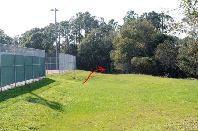 Halpatiokee Regional Park, Main course, Hole 1 Short tee pad