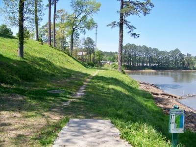 Lake Olmstead Park, Main course, Hole 17 Tee pad
