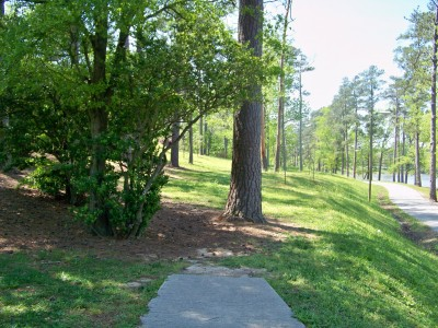 Lake Olmstead Park, Main course, Hole 13 Tee pad