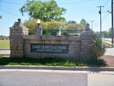 Lake Olmstead Park, Main course, Hole 1 Hole sign