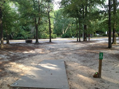 Pendleton King Park, Main course, Hole 3 Tee pad