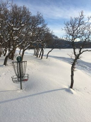 Wahatoya Valley Disc Golf and Trail, Main course, Hole 1 Midrange approach