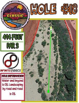 Grandpa's Pond Park, Preview Course, Hole 18 Course sign