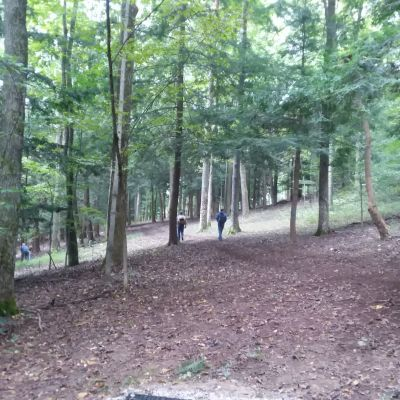 Hocking Hills State Park, Whispering Cave, Hole 6 Short tee pad