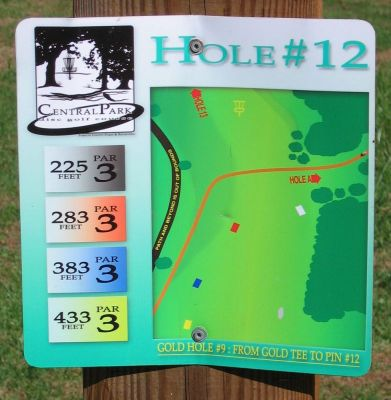 Central Park, Main course, Hole 12 Hole sign