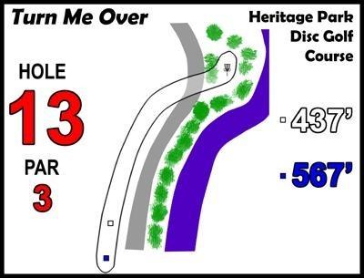 Heritage Park, Heritage Park DGC, Hole 13
