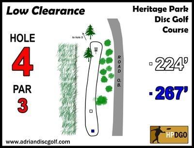Heritage Park, Heritage Park DGC, Hole 4