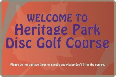 Heritage Park, Heritage Park DGC, Hole 1 Tee pad