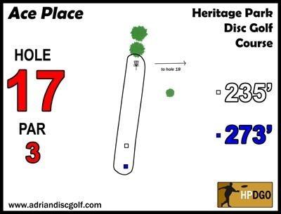 Heritage Park, Heritage Park DGC, Hole 17