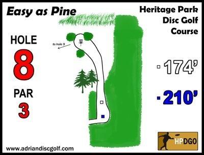 Heritage Park, Heritage Park DGC, Hole 8