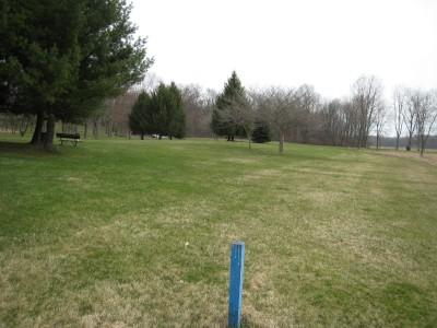 Heritage Park, Heritage Park DGC, Hole 9 Long tee pad