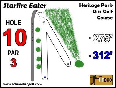 Heritage Park, Heritage Park DGC, Hole 10