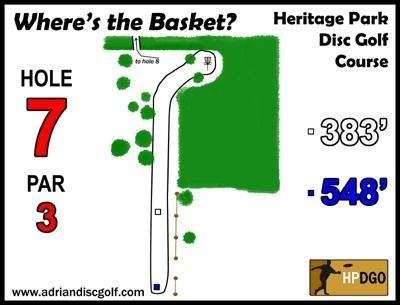 Heritage Park, Heritage Park DGC, Hole 7