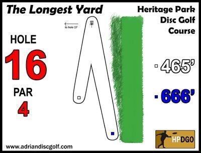 Heritage Park, Heritage Park DGC, Hole 16