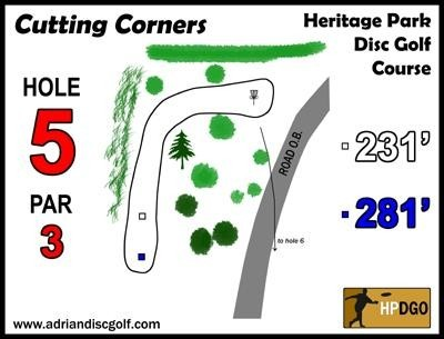 Heritage Park, Heritage Park DGC, Hole 5