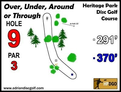 Heritage Park, Heritage Park DGC, Hole 9