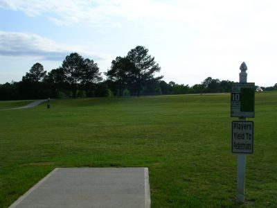 McCurry Park, Main course, Hole 10 Tee pad