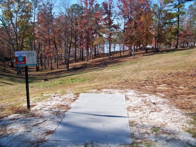 Claystone Park, Main course, Hole 11 Tee pad