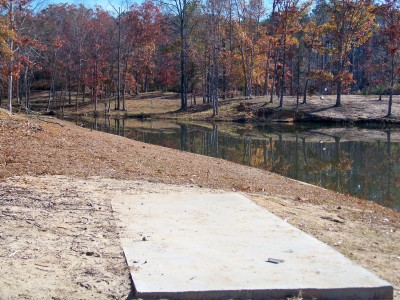 Claystone Park, Main course, Hole 15 Tee pad