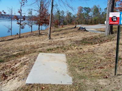 Claystone Park, Main course, Hole 14 Tee pad