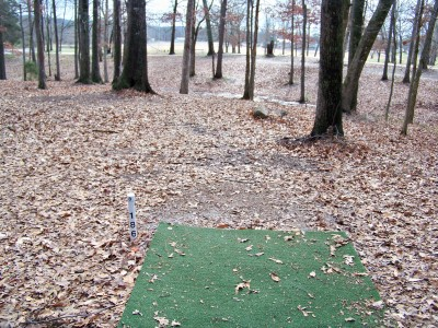 Jack Mattox Recreation Complex, Main course, Hole 8 Tee pad