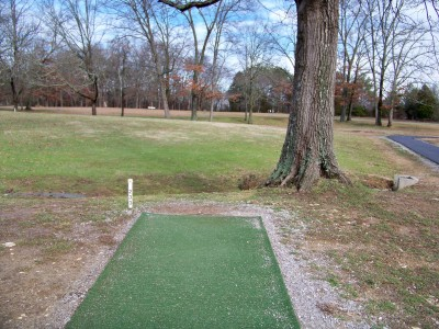 Jack Mattox Recreation Complex, Main course, Hole 4 Tee pad