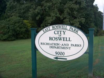 East Roswell Park, Main course, Hole 1 Hole sign