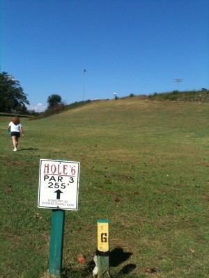 Stephens County/Rose Lane, Main course, Hole 6 Long tee pad