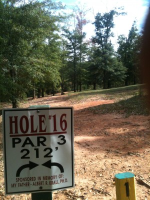Stephens County/Rose Lane, Main course, Hole 16 Tee pad