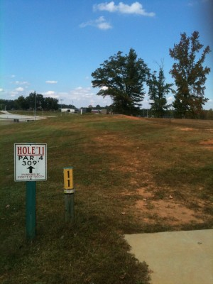 Stephens County/Rose Lane, Main course, Hole 11 Tee pad