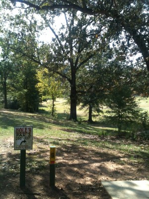 Stephens County/Rose Lane, Main course, Hole 9 Tee pad