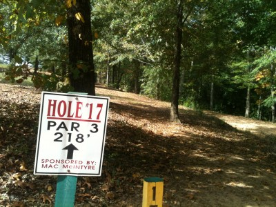 Stephens County/Rose Lane, Main course, Hole 17 Tee pad