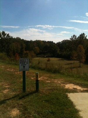 Stephens County/Rose Lane, Main course, Hole 7 Tee pad