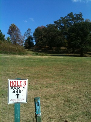 Stephens County/Rose Lane, Main course, Hole 8 Tee pad