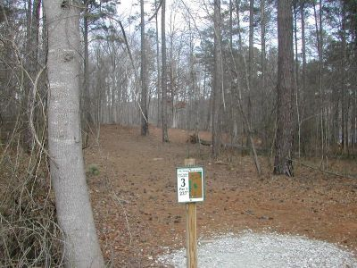 Fort Yargo State Park, Main course, Hole 3 Tee pad
