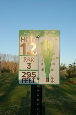 Basil Griffin Park, Main course, Hole 12 Hole sign