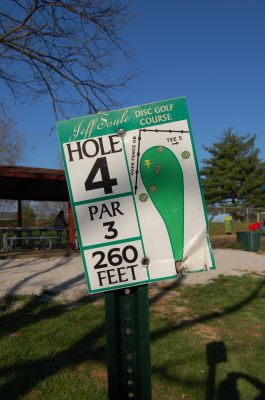 Basil Griffin Park, Main course, Hole 4 Hole sign