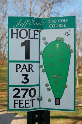 Basil Griffin Park, Main course, Hole 1 Hole sign