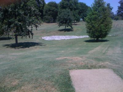 Lovers Lane Park, Main course, Hole 7 Tee pad