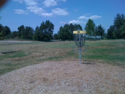 Lovers Lane Park, Main course, Hole 16 Reverse (back up the fairway)