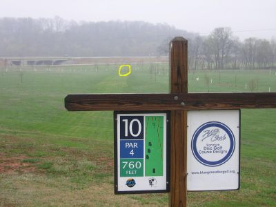 Phil Moore Park, Main course, Hole 10 Hole sign